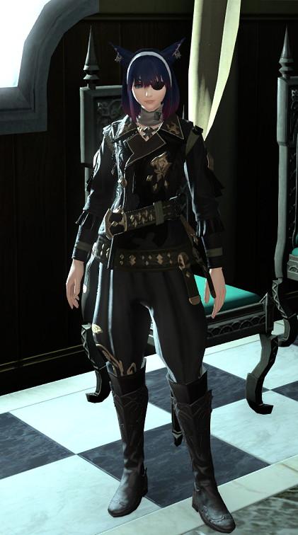 アルケオーニス・ギャザラージャックコートで第三帝国将校のコスプレ~新生FF14詩人ミラプリ2