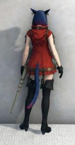 オプションアイテムのサイオンズ・リベレータージャケットがエロ可愛い~新生FF14赤魔道士のミラプリ・武器On背面