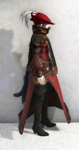 スカラキャスター・ジャケットでジェヴォーダンの獣っぽいミコッテ赤魔ミラプリ・右