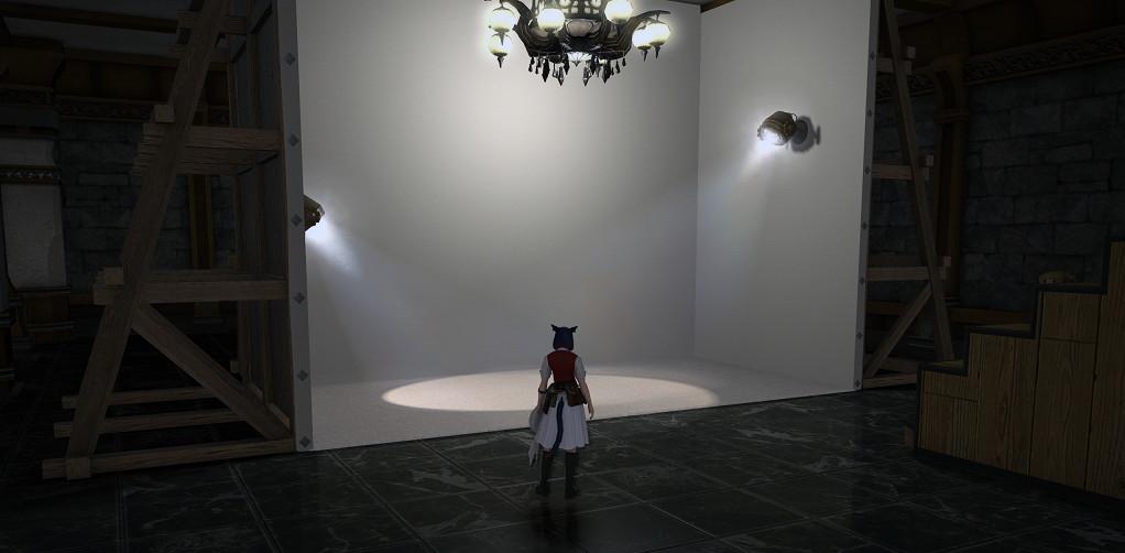 店売り家具のステージパネルでSS撮影がとても捗るようになりました~パッチ4.2のハウジング撮影スタジオ1