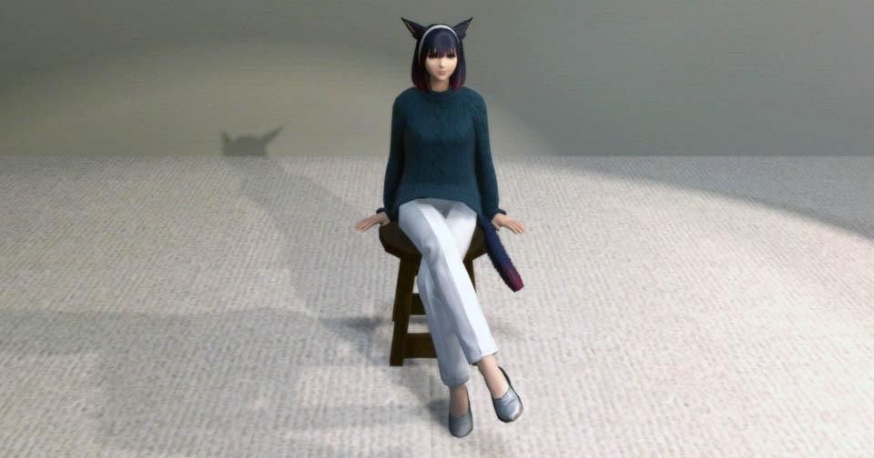 アイキャッチ・東方姫君布靴とウィンターセーターできれいめパンツルックを目指してみる~新生FF14萌えるミラプリ