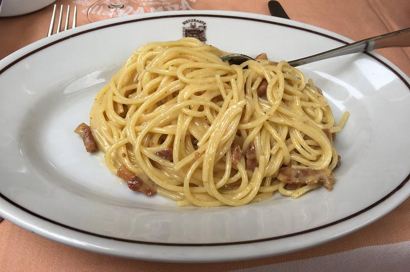 ローマで食したカルボナーラ