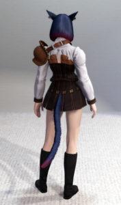 貧乳のメンタルを試すリドルアナのドロップ装備、イヴァリースアーチャー・ジャケット・背面