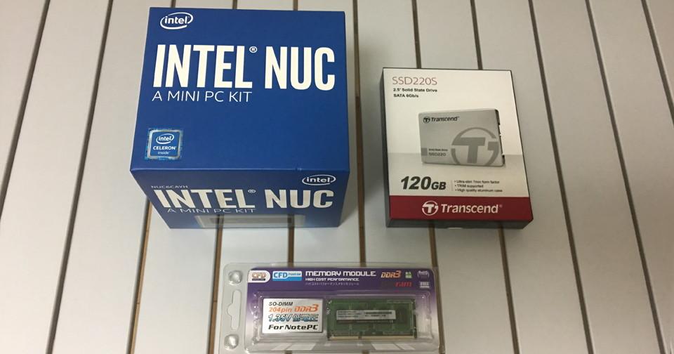 アイキャッチ・IntelのNUC6CAYHにCentOS7をインストールしてみた~ハマりどころアリ