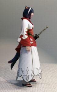 プリンセス・ロングスカートと紅染姫君浴衣でファッション侍のミラプリ・右