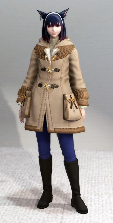 ウィスパーファインウールコート無染色+フォレストスロップ+ハイサマナーブーツ