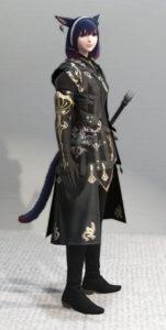 レプリカ・アラガンキャスターチュニックとプリンセスドレスグローブで悪の帝国魔術師風ミラプリ・右面