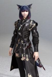 レプリカ・アラガンキャスターチュニックとプリンセスドレスグローブで悪の帝国魔術師風ミラプリ1