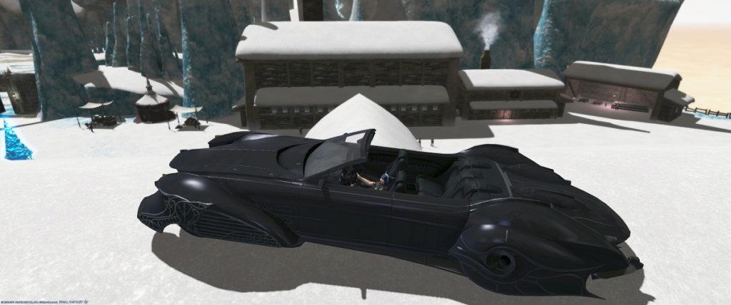 FF14xFF15コラボスクリーンショットキャンペーンはピューロス拠点の屋根に登るレガリアでどうでしょう4