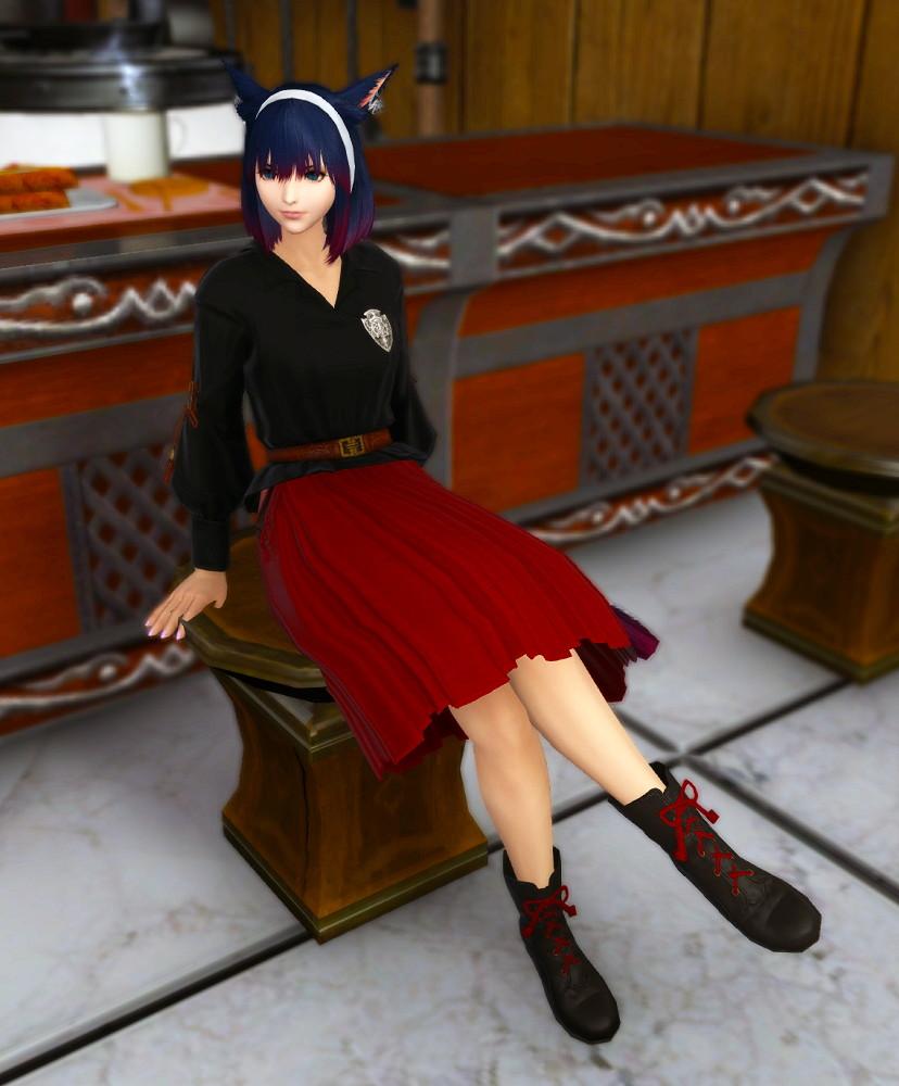 東方女学生衣装セットの靴装備が使い勝手のいいショートブーツでずるい~新生FF14課金沼2