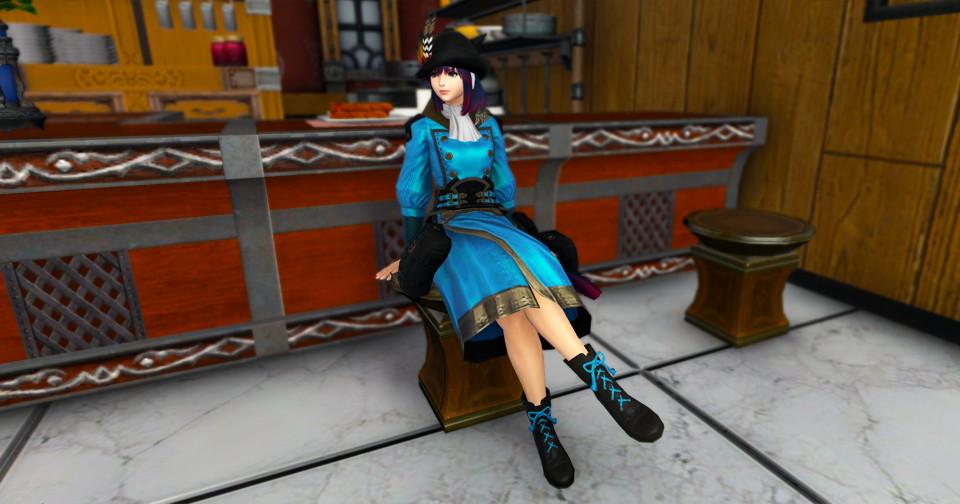 アイキャッチ・東方女学生衣装セットの靴装備が使い勝手のいいショートブーツでずるい~新生FF14課金沼