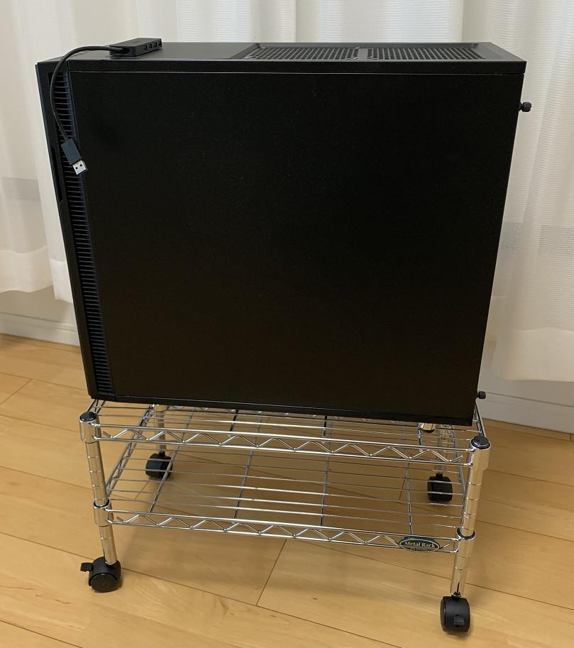 アイリスオーヤマのメタルラックパーツでデスクトップPC用すのこ台を自作してみた3