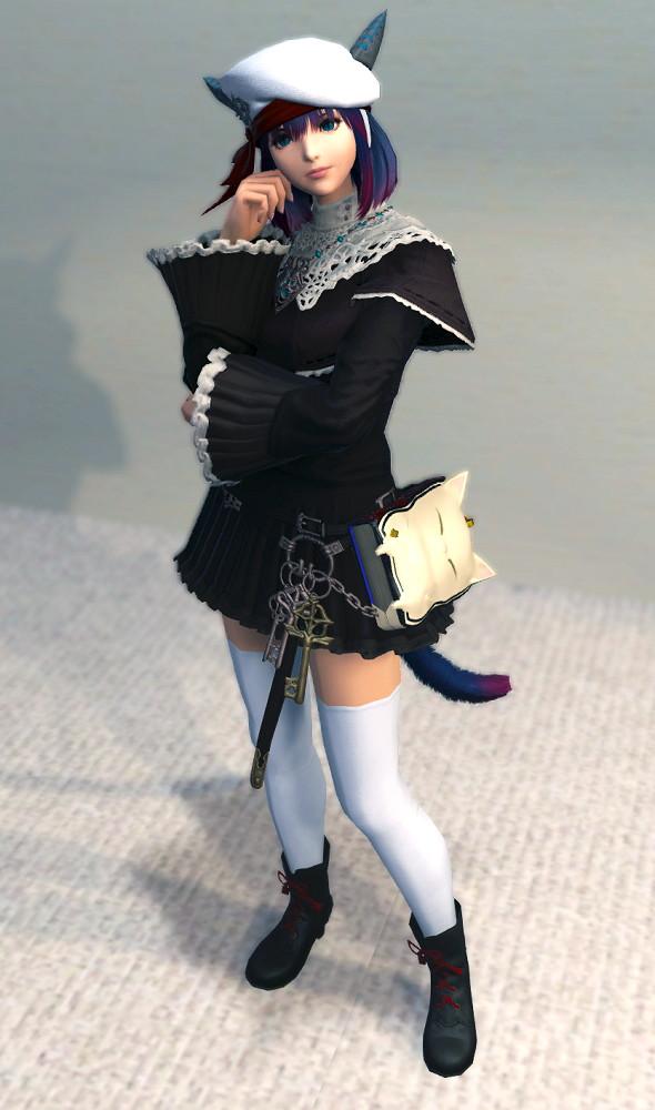 ハードカバー本はファッションの一部です?地味なフッブート・キャスターチュニックをなんとか可愛くしてみる~新生FF14召喚士ミラプリ2