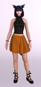 パッチ5.3で追加されたシンプルなフレアミニスカート「サザンシースカート」が使いやすくてイイ感じ6