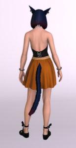 パッチ5.3で追加されたシンプルなフレアミニスカート「サザンシースカート」が使いやすくてイイ感じ8