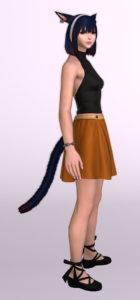 パッチ5.3で追加されたシンプルなフレアミニスカート「サザンシースカート」が使いやすくてイイ感じ9