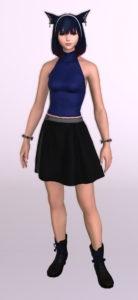 パッチ5.3で追加されたシンプルなフレアミニスカート「サザンシースカート」が使いやすくてイイ感じ10