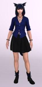 パッチ5.3で追加されたシンプルなフレアミニスカート「サザンシースカート」が使いやすくてイイ感じ14