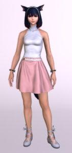 パッチ5.3で追加されたシンプルなフレアミニスカート「サザンシースカート」が使いやすくてイイ感じ2