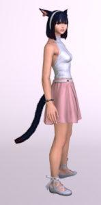 パッチ5.3で追加されたシンプルなフレアミニスカート「サザンシースカート」が使いやすくてイイ感じ5