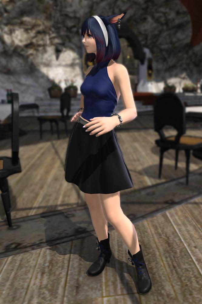 パッチ5.3で追加されたシンプルなフレアミニスカート「サザンシースカート」が使いやすくてイイ感じ1