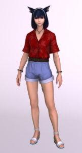 アロハ風半袖シャツの「サザンシーシャツ」を使ったミラプリはやっぱり難しい正面