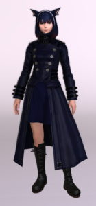 ヨルハ五三式軍装:重とサザンシースカートの組み合わせ、ついでにナイトのレジスタンスウェポン第3段階を使ったミラプリ正面