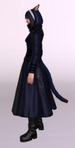 ヨルハ五三式軍装:重とサザンシースカートの組み合わせ、ついでにナイトのレジスタンスウェポン第3段階を使ったミラプリ左
