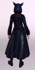 ヨルハ五三式軍装:重とサザンシースカートの組み合わせ、ついでにナイトのレジスタンスウェポン第3段階を使ったミラプリ背面