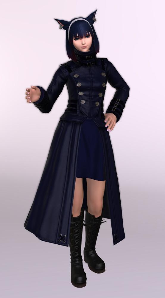 ヨルハ五三式軍装:重とサザンシースカートの組み合わせ、ついでにナイトのレジスタンスウェポン第3段階を使ったミラプリ1