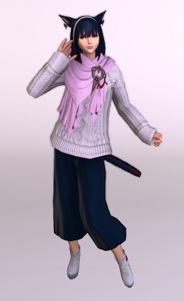 古代ローマ人風ダルマスカン・ドレープパンツにアドベンチャラー・セーターを合わせて秋冬向けコーデにしてみる3