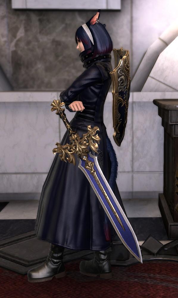 ヨルハ五三式軍装:重とサザンシースカートの組み合わせ、ついでにナイトのレジスタンスウェポン第3段階を使ったミラプリ2
