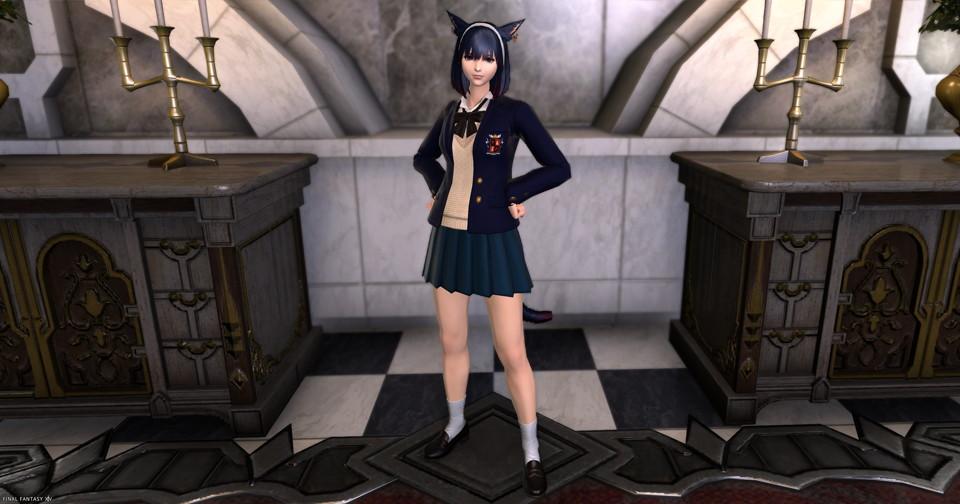 アイキャッチ・JK制服(課金アイテム)カレッジ装備の正しい染色