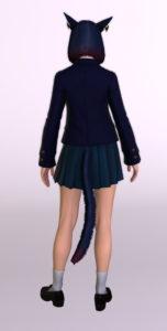 JK制服(課金アイテム)カレッジ装備の正しい染色背面