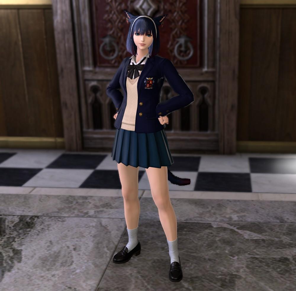 JK制服(課金アイテム)カレッジ装備の正しい染色3