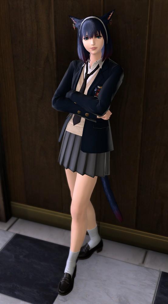 課金制服・男子版(カレッジブレザー:ネクタイ)を使ったミラプリ8