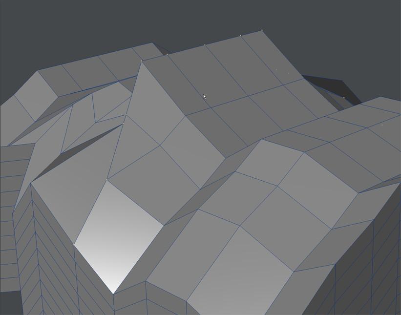 自作Lightwave用スクリプト:ModifyPointsToBeizer~選択頂点をベジェ曲線上に並べる1