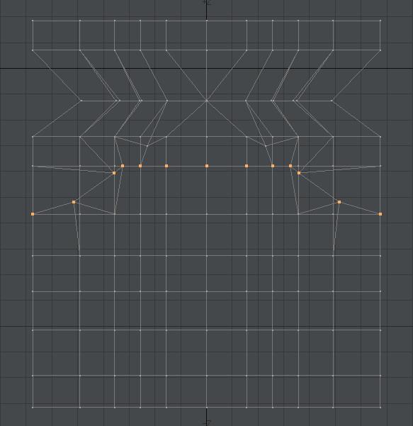 自作Lightwave用スクリプト:ModifyPointsToBeizer~選択頂点をベジェ曲線上に並べる2
