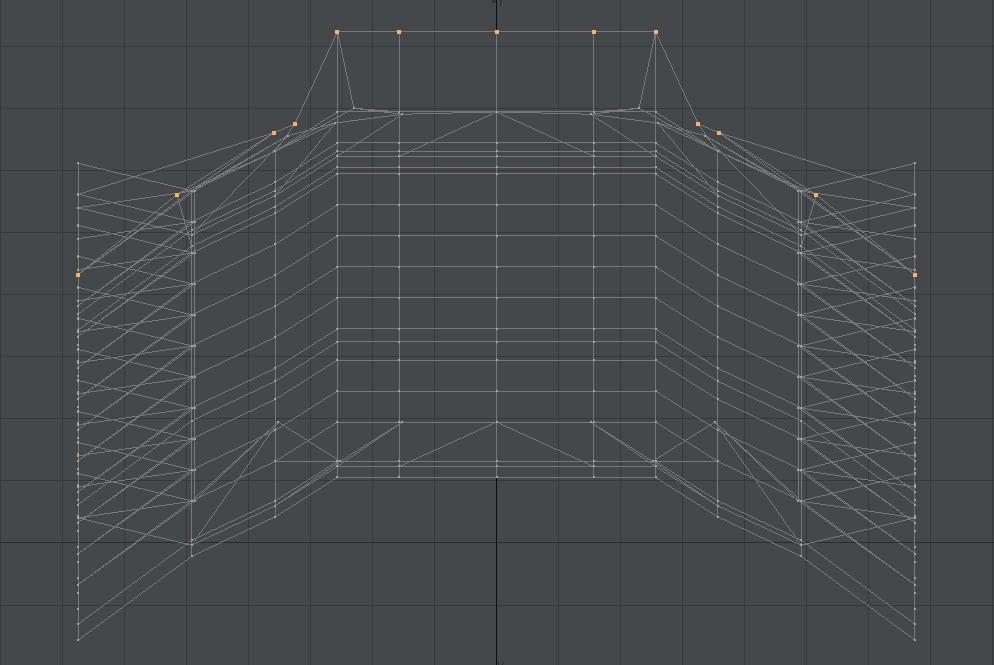 自作Lightwave用スクリプト:ModifyPointsToBeizer~選択頂点をベジェ曲線上に並べる3