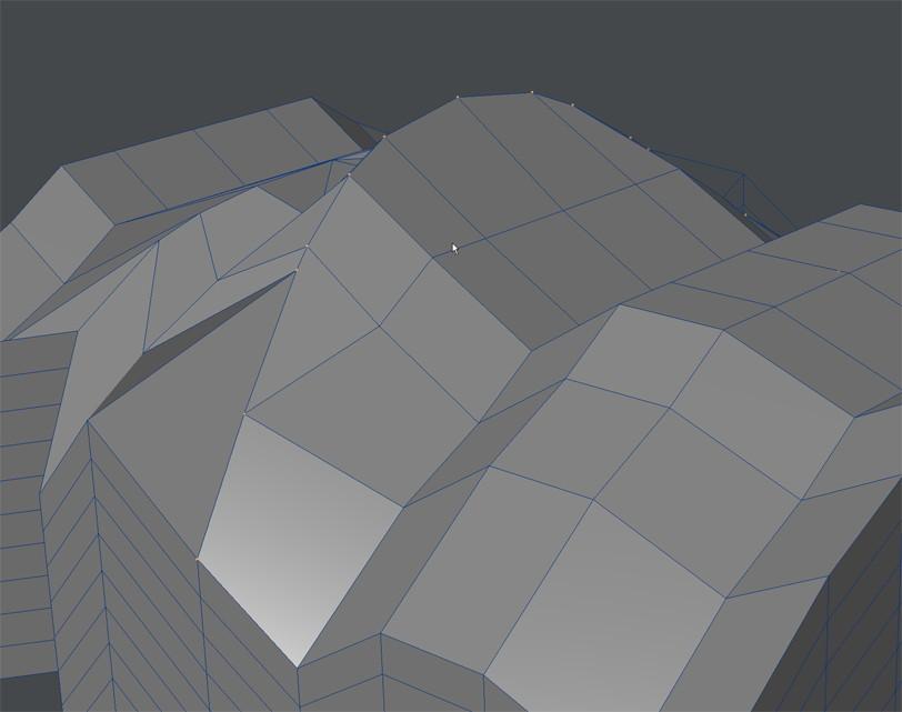 自作Lightwave用スクリプト:ModifyPointsToBeizer~選択頂点をベジェ曲線上に並べる4