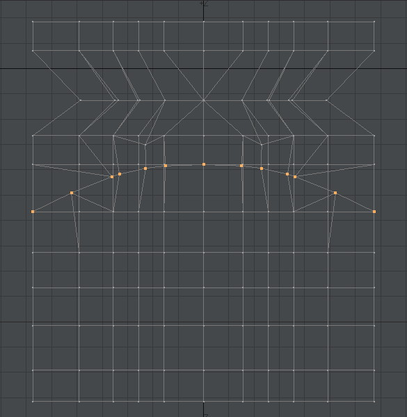 自作Lightwave用スクリプト:ModifyPointsToBeizer~選択頂点をベジェ曲線上に並べる5