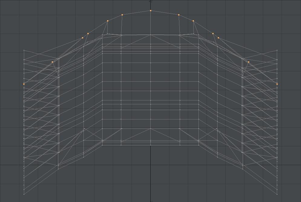 自作Lightwave用スクリプト:ModifyPointsToBeizer~選択頂点をベジェ曲線上に並べる6