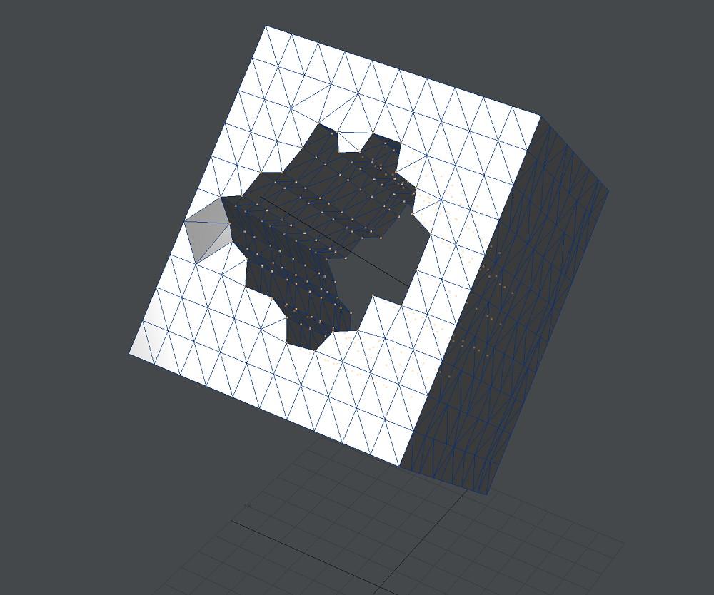 自作Lightwave用スクリプト:AxisAlign~背景の直線を軸にして前景の頂点を筒状に並べる1