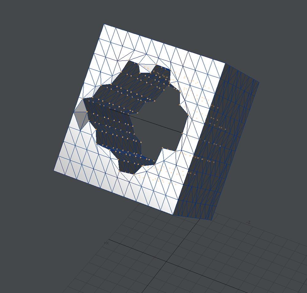 自作Lightwave用スクリプト:AxisOffset~背景の直線を軸にして前景の頂点にオフセットを加える4