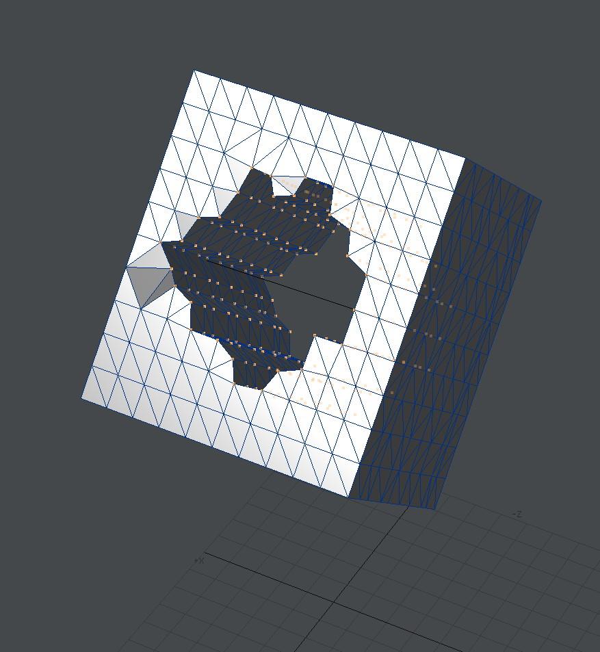自作Lightwave用スクリプト:AxisOffset~背景の直線を軸にして前景の頂点にオフセットを加える1