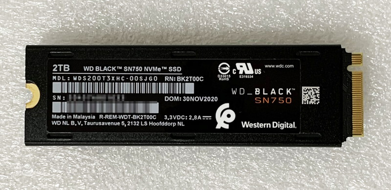 SATA3 SSDからNVMeのM.2 SSDに変えるとどのぐらい爆速になる?ゲームのロードは?~Western Digital SN750レビュー3