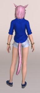リーン・コスチュームセットの脚装備オラクル・パンタレットを使ったマリンコーデ背面