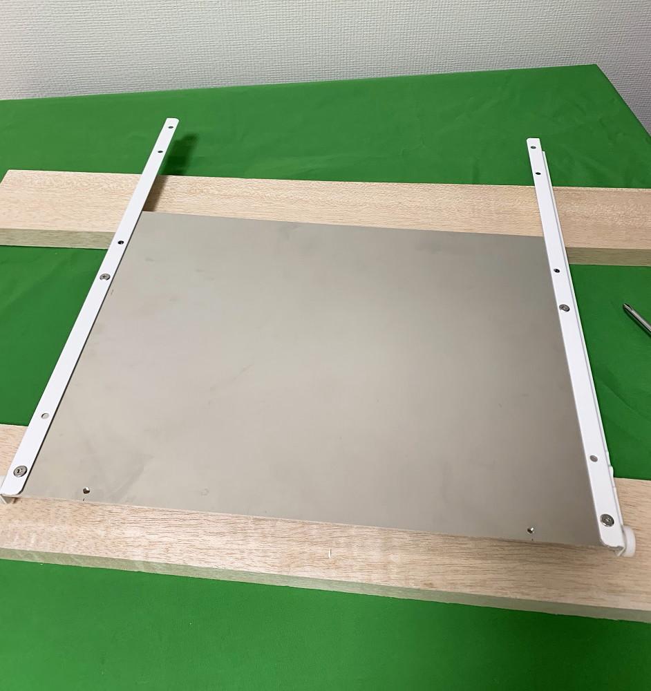 アルミフレームとスライドレールでキーボードと共存するタブレット台を作ってみた12