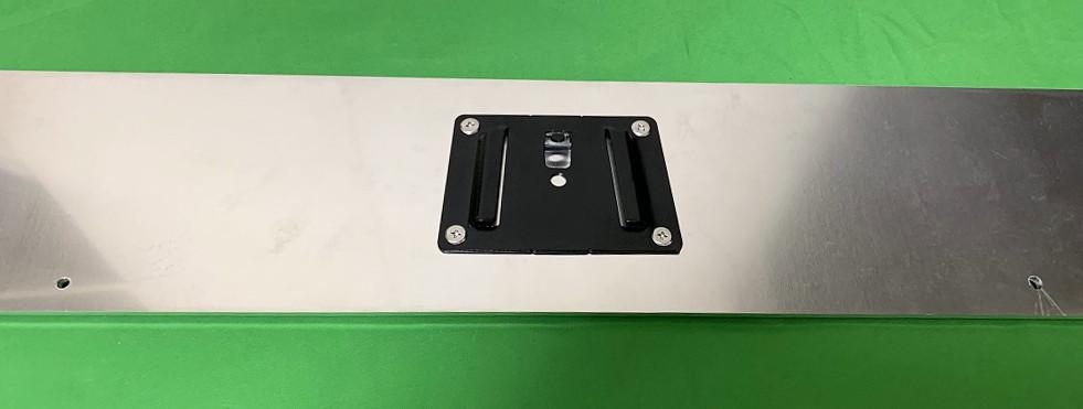 アルミフレームとスライドレールでキーボードと共存するタブレット台を作ってみた24