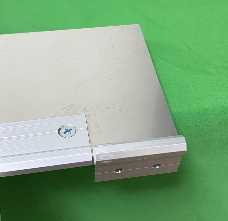 アルミフレームとスライドレールでキーボードと共存するタブレット台を作ってみた26